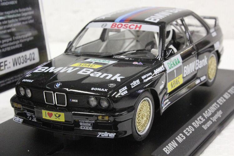 Fly BMW E30 Race against R92 Test Bruno Spengler Slot Car W038-02