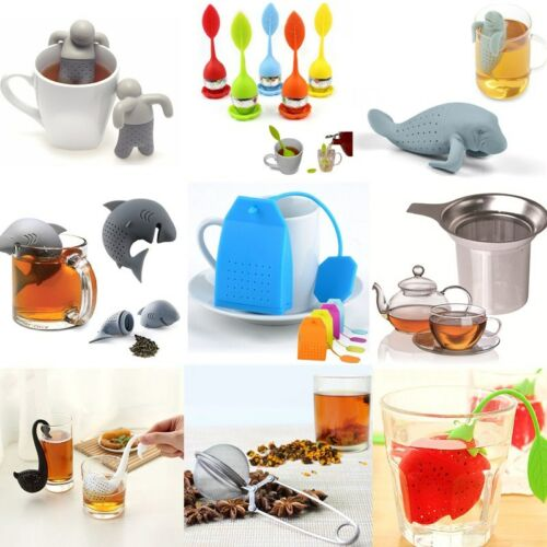 16Styles Funny Cartoon Silicone Diffuser Infuser Tea Leaf Strainer Herbal Filter