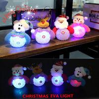 Cute LED Light Snowman Santa Claus  Xmas Decor Ornaments Christmas Tree Hanging