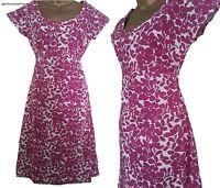 BN LADIES WHITE STUFF SUMMER FLORAL TEA DRESS FUSCHIA PINK WHITE TUNIC SIZE 8-18