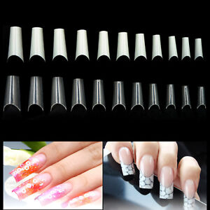 500-PCS-C-Curve-French-Well-less-False-Nail-Art-Acrylic-Gel-Tips-Half-Long-Tips