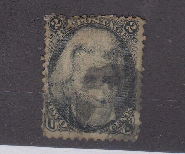 USA 1863 2c Black Jackson Scott #73 Fine Used JK2572
