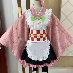 Demon Slayer Kimetsu No Yaiba Kanroji Mitsuri Maid Outfit Cosplay Apron Dress Ebay ꩜ — mitsuri kanroji moodboard. details about demon slayer kimetsu no yaiba kanroji mitsuri maid outfit cosplay apron dress