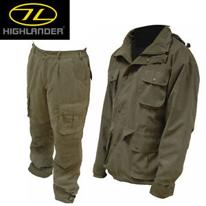 HIGHLANDER REXMOOR WATERPROOF JACKET AND TROUSERS SIZES XS-XXL
