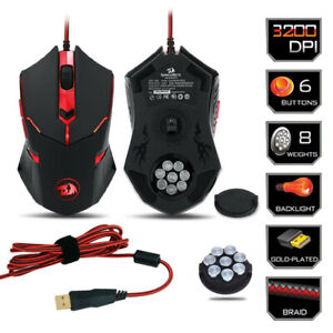 Gaming-Mouse-for-PC-6-Buttons-Weight-Tuning-Redragon-M601-CENTROPHORUS-3200-DPI