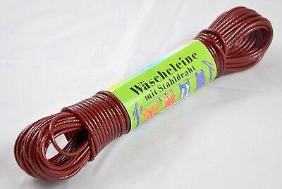 Herzhaft Wäscheleine Rot 20m Mit Stahleinlage Wäsche Leine Stahlseil Schnur Extra Stark Seien Sie Im Design Neu