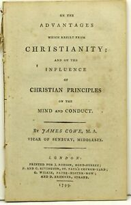 James Cowe On The Advantages Which Result From Christianity First 291333 Ebay