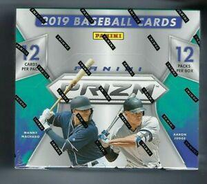 2019-Panini-Prizm-Baseball-Factory-Sealed-Hobby-Box-12-Packs-3-AUTOS