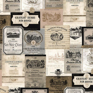 French-Wine-Labels-Wallpaper-Gold-amp-Black-KK26753-Double-Roll