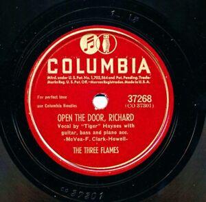 The-THREE-FLAMES-on-1947-Columbia-37268-Open-the-Door-Richard-Nicholas