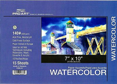 WATERCOLOR BLOCK 7X10 140 LB ~ NEW!