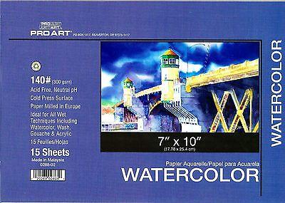 WATERCOLOR BLOCK 7X10 140 LB ~ NEW!