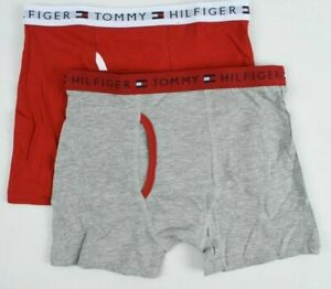 Underwear 8-10 Years TOMMY HILFIGER Boys/' Kids/' 2-pk Boxers Grey//Red