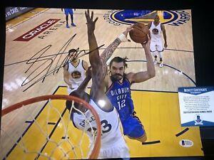 Steven Adams OKC THUNDER autographed signed 11x14 photo  Beckett BAS COA NBA
