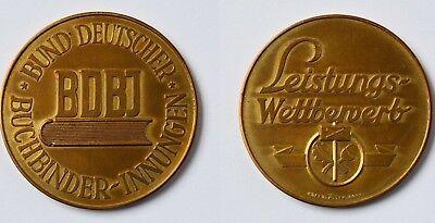 Offen Medaille Bronze Bdbi Bund Deutscher Buchbinder-innungen Leistungswettbewerb Ein GefüHl Der Leichtigkeit Und Energie Erzeugen