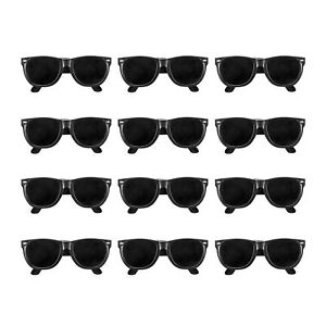 24pk-BLACK-CLASSIC-80s-KIDS-Sunglasses-Party-Props-Birthday-Favors-LOT