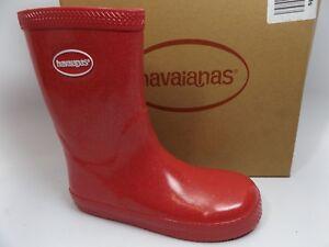 9d9c341f3c7584 Havaianas GALOCHAS Girl s Pink GLITTER Waterproof Rain Boots  SZ 2 Y ...