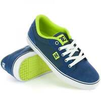Dc Boys Anvil Skate Shoes, Navy Blue/lime - Kids Suede Skateboard Trainers