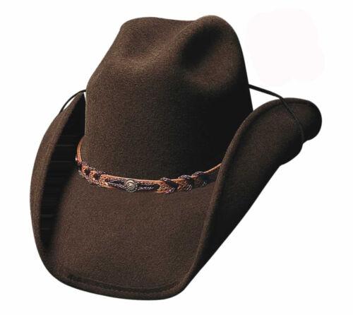 Western Cowboy Hat Montana Brown 100/% Wool Felt by Bullhide Montecarlo Stetsons