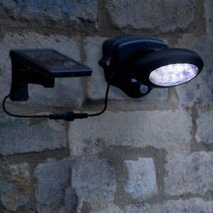Nouvelle Mode 10 Del Lampe Projecteur Sécurité Détecteur Solaire Spot Détecteur De Mouvement Jardin-afficher Le Titre D'origine