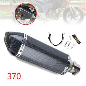 Carbon-Fiber-Motorcycle-370mm-Exhaust-Muffler-Pipe-DB-Killer-38-51mm-2-Color