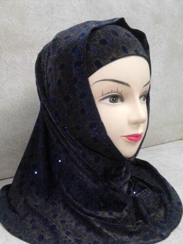 Kopftuch Kopfbedeckung Hijab Tuch islam Muslim blau 43