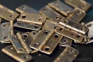 Schatulle 16x13mm Braun 20 Mini-scharniere Für Schmuckkästchen Antik-look Waren Des TäGlichen Bedarfs