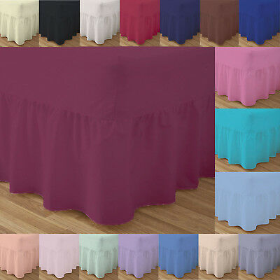Fitted Valance Bed Sheets Double Single Super King Size Frilled Super king new