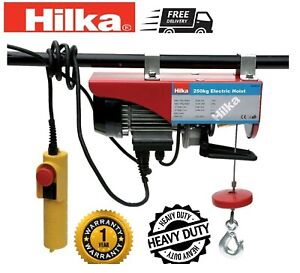 Electric-Lifting-Winch-Hoist-250kg-Scaffold-Mounted-for-Workshop-Garage-HILKA