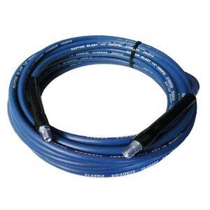 """Raptor Blast 9815-100 100' Blue 3000 PSI 1/4"""" Carpet Cleaning Solution Hose"""