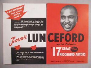 Jimmie Lunceford orchestre double-page print ad - 1944-afficher le titre d`origine a4TEDRjG-09092903-372937630