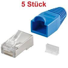 RJ45 Stecker 8 polig für Lan-Kabel Internetkabel Patchkabel Netzwerkkabel blau