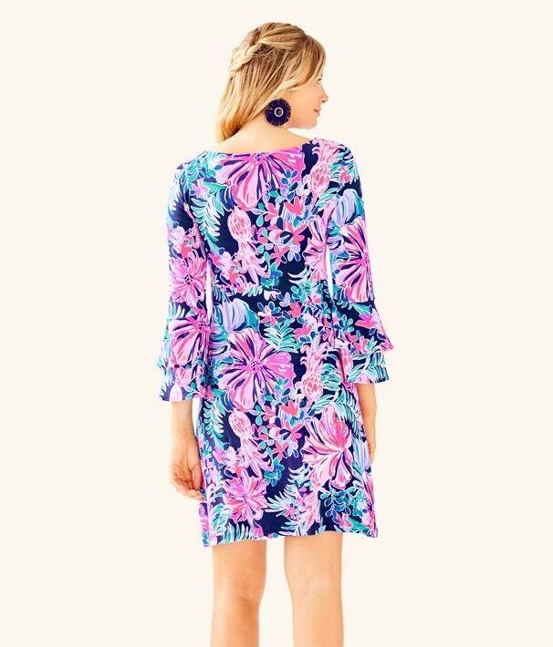 NWT Lilly Pulitzer Raina Dress Multi Garden Get Away Away Away Size S 2b4bbc