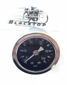 Oil-Pressure-Gauge-Will-suit-any-motorcycle-0-100psi-Gauge-1-3-4-034-Diameter