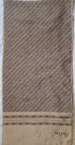 Authentique Écharpe CELINE Paris soie TBEG vintage Scarf 160 x 43 cm ... a0e52379b0f