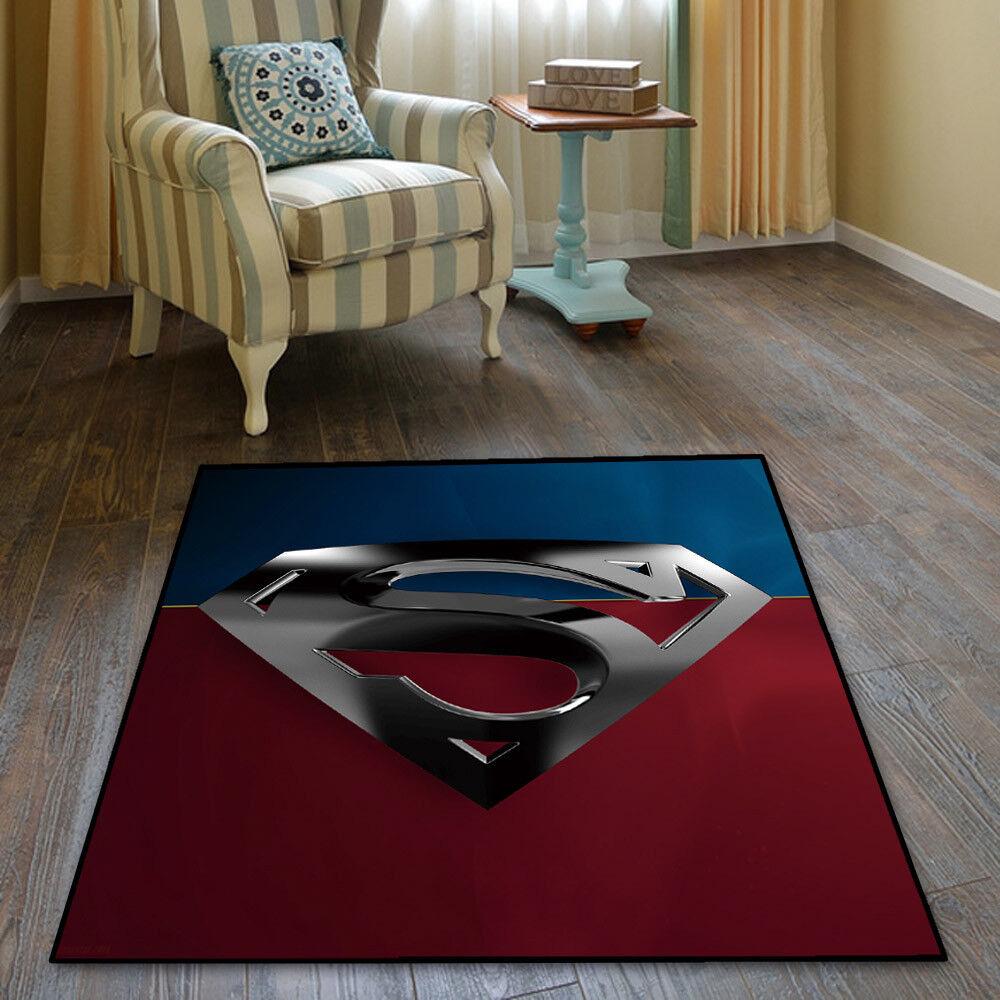 Superman DC Comics Cool Velboa Floor Rug Carpet Room Doormat Non-slip Mat  124