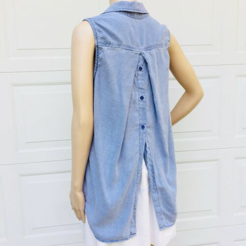 Anthropologie Bella Dahl M Medium Blue Sleeveless