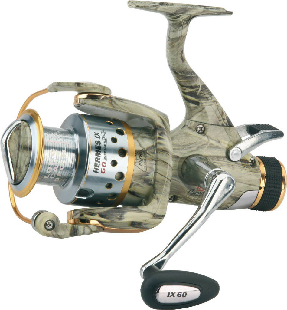 Mulinello hermes mimetico 6000 pesca carpfishing carpa fondo carp fishing