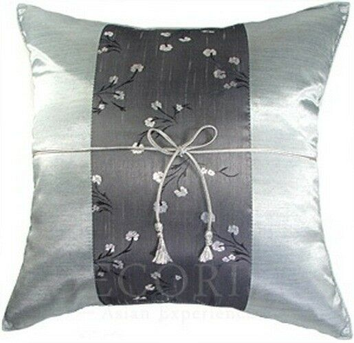 1 SILK CHAIR COUCH BED DECORATIVE THROW CUSHION COVER FLORAL 16x16 PILLOW CASE