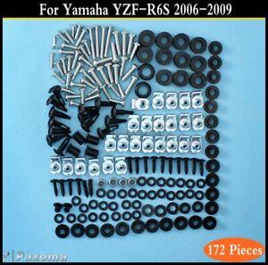 Fasteners R6s 07 08 2006 2007 2008 2009 Screws Bolts Yamaha YZF-R6s 06-09 Motorcycle Fairing Bolt Kit
