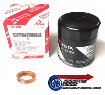 NEW GENUINE TOYOTA SUPRA N//A TWIN TURBO JZA80 ENGINE OIL FILTER FREE SUMP WASHER
