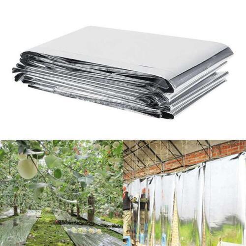 Anti-Heat Silver PETP Reflective Film Garden Greenhouse Plant Grow Light SL