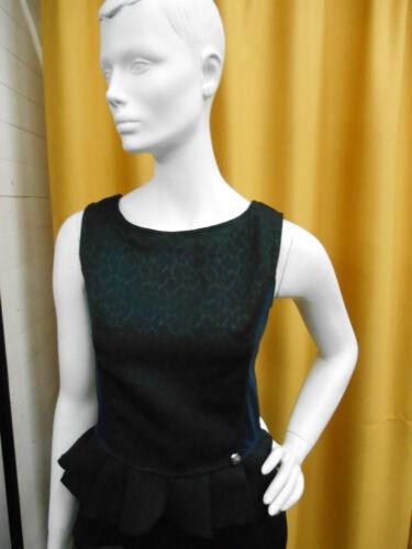 Colore Cafe' Blu Notte Elegante Donna Top Noir Corpetto Canotta Blusa Rjl0601 qZTwq8r