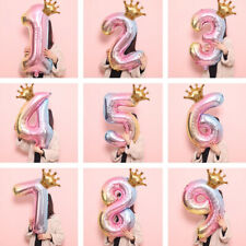 2pcs 32inch Rainbow Number Foil Balloons Air Balloon Birthday Party Decorations For Sale Online Ebay