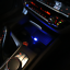 2x Blue Mini USB LED Car Auto Interior Light Neon Atmosphere Ambient Lamps