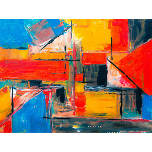 Abstract Expressionism Painting Unframed Wall Art Print Poster Home Decor