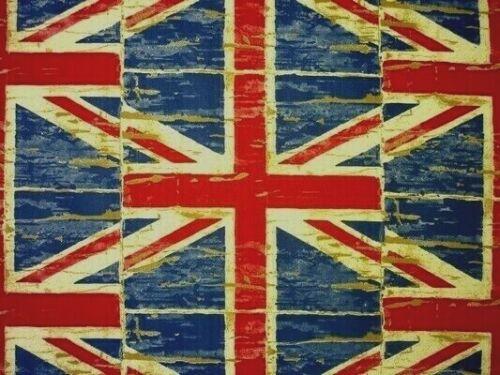 Prestigious Distressed Union Jack Cotton PVC WIPE CLEAN Tablecloth Oilcloth