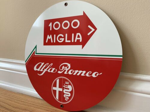 Alfa Romeo Mille 1000 Miglia  Italian Racing Rare Garage Sign Reproduction