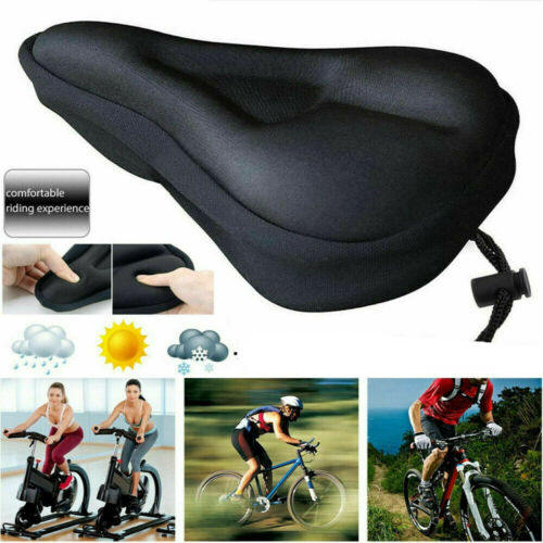 Exercise Bike Seat Gel Cushion Cover For Large And Wide Bicycle Saddle Pad Bike