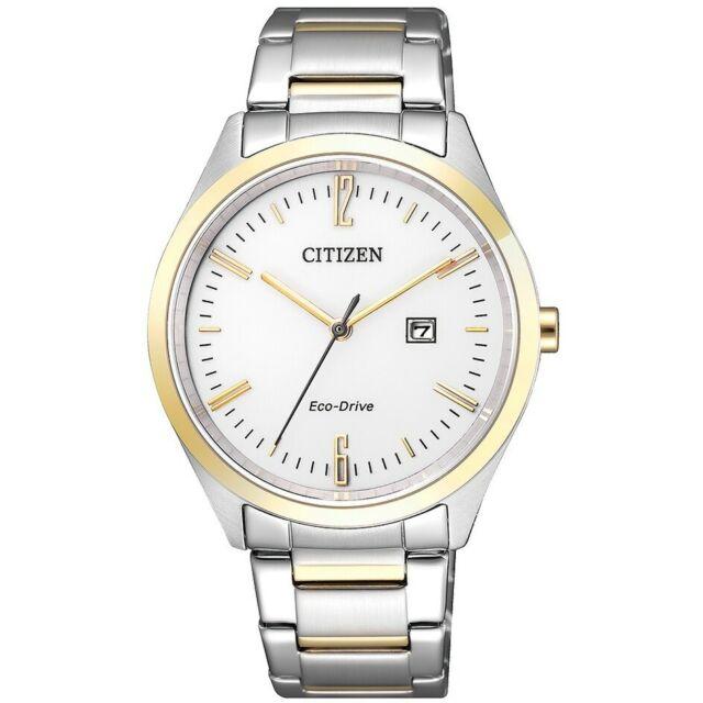 Watch Citizen Ladies Eco Drive Steel Bicolor IP Gold Date ew2454-83a